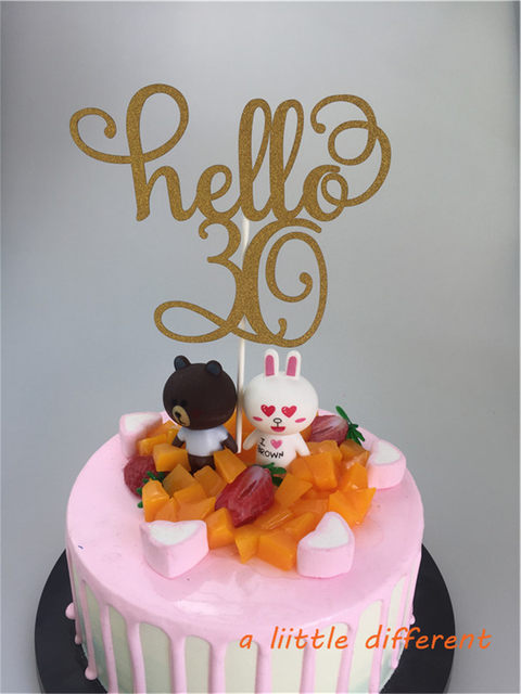 Online Shop 115x15cm 1pcsset Hello 40 Forty Birthday Cake Topper