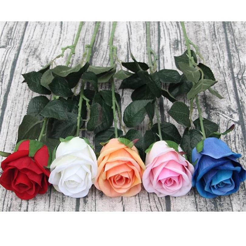 Individual Long Stem Soft Yellow Artificial Roses