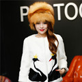 Red Fox Fur Hat 100% Real Fur fox With ear cap woman winter  great circle hat