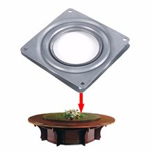 Square Bearing Swivel Plate 4 Inch Rotating Replacement Metal Lazy Susan Bearing Turntable TV Rack Desk Seat Bar Tool Wholesale(China)
