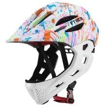 LED Kids Off-road Full Face Mountain Bike Helmet Balance Sports Downhill Cycling