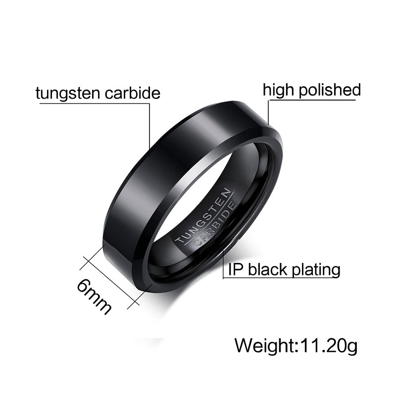 Meaeguet 6MM Wide Rock Men Rings Jewelry Pure Tungsten Carbide Engagement Wedding Rings for Men Rings Jewelry (15)