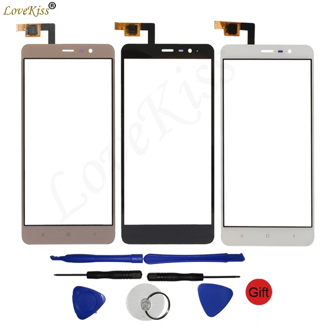 "5.5"" Note 3 Touchscreen Panel For Xiaomi Redmi Note 3 Note3 Touch Screen Sensor LCD Display Digitizer Front Outer Glass TP Cover"