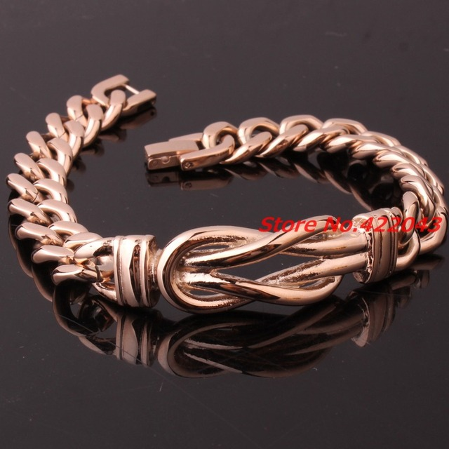 "8.89""*11.6mm Fashion Curb Cuban Link 316L Stainless Steel Rose Gold Plated Bracelet Mens Womens Chain Wholesale Jewelry Pulseras"