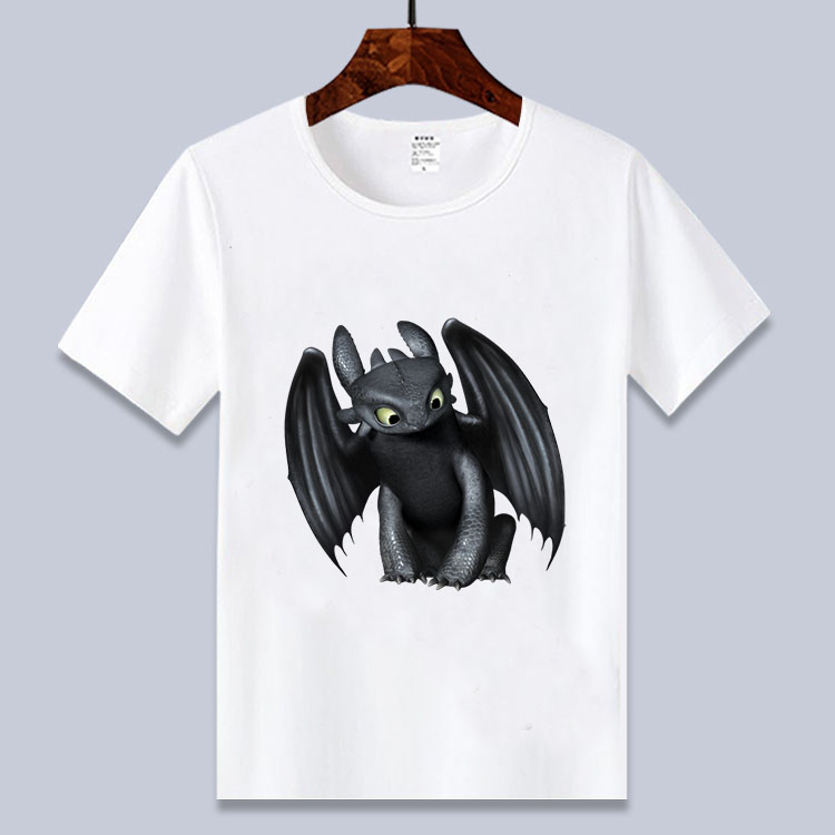 T-Shirt Cartoon Toothless Train Boys/girls Dragon Printed How White Your for 3-14T Tee
