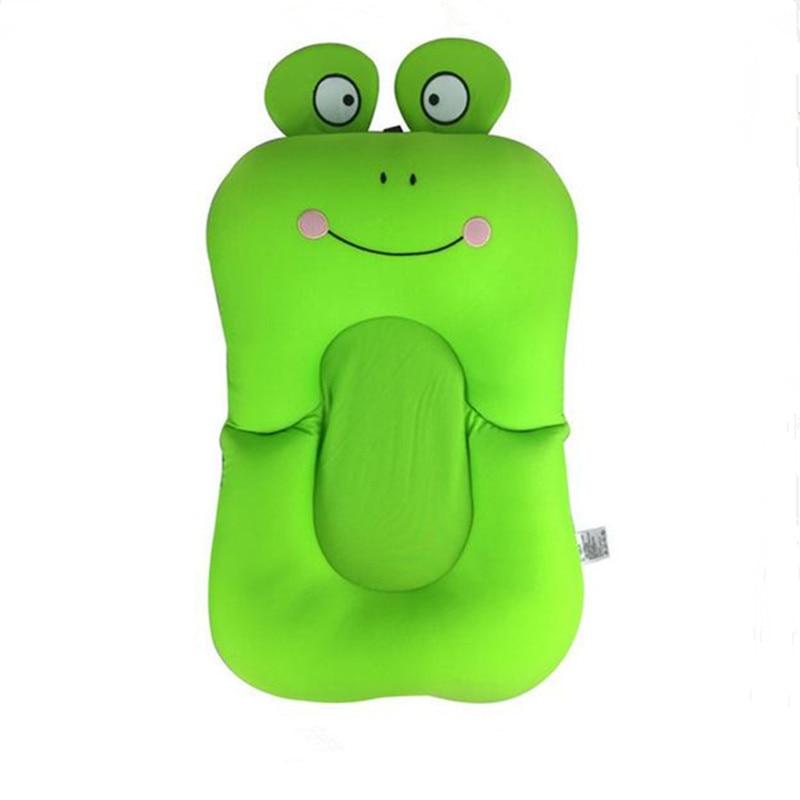Frog Design Foldable Baby Bath Tub Bathtub Pad Newborn Baby Pillow ...