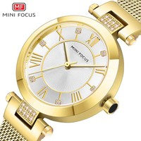 Watch Women Luxury Brand Women Watches MINIFOCUS Ladys Luxury Waterproof Reloj Mujer Rose Gold Stainless Steel relogio feminino