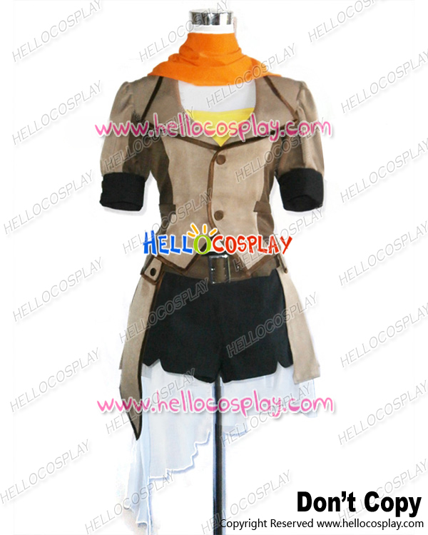 RWBY Cosplay Yellow Trailer Yang Xiao Long Uniform Costume H008