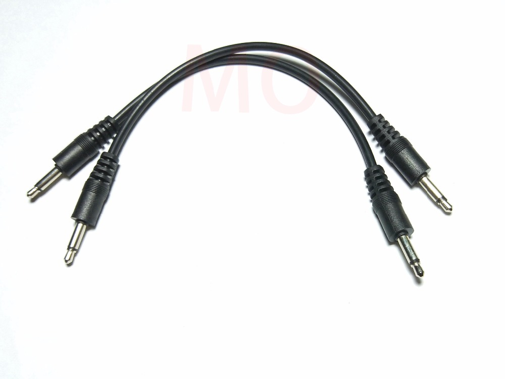2pcs 3.5mm 1/8 male mini plug monaural mono audio
