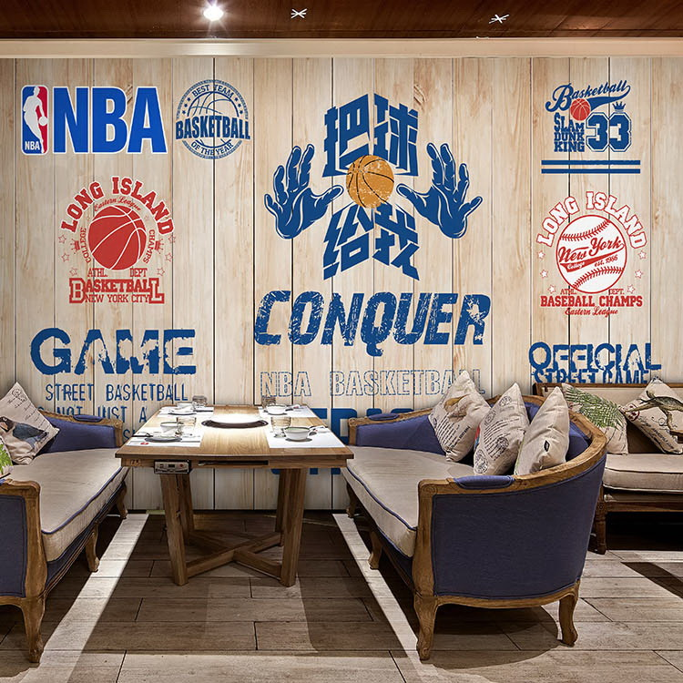 Free Shipping 3D football basketball star mural wallpaper dining room stadium playground bedroom wallpaper free shipping european football club football star messi portrait wallpaper mural