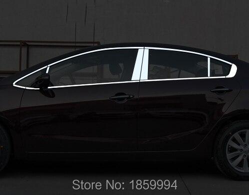 for 2012-2016 kia k3 k3s full window trim styling decoration stripsticker coverfor 2012-2016 kia k3 k3s full window trim styling decoration stripsticker cover