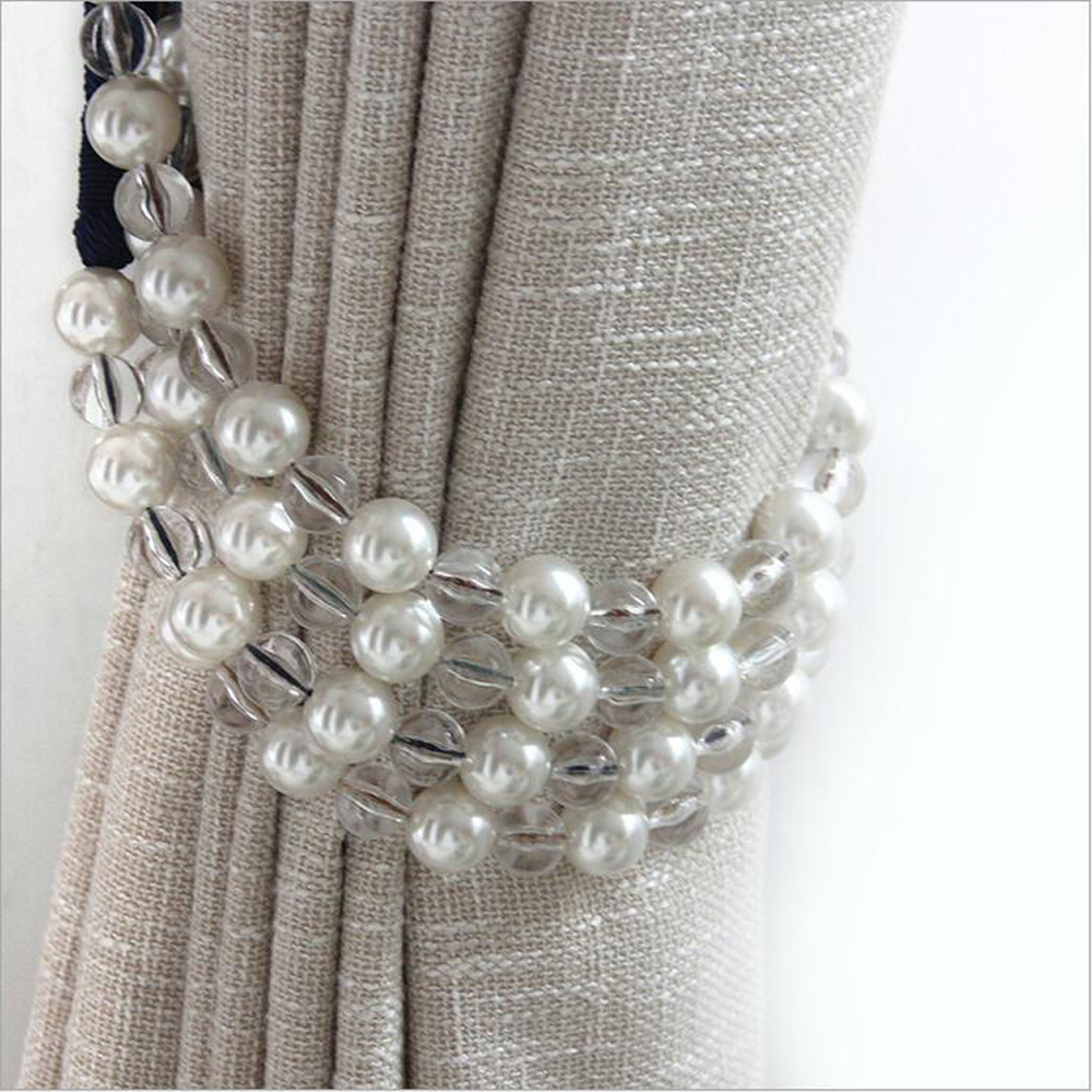 One pair pearl tie back for decoration curtain clips accessories ...