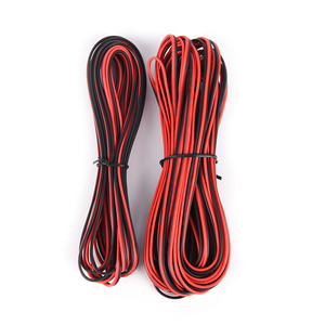 5m/10m/lot 22awg 2pin 5050 3528 Rgb Led Strip Wire Extend Red Black Cable Cord Cable Electrical Wire Cb-22awg-rb