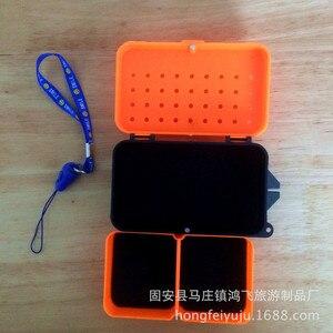 Image 3 - 多機能 2 コンパートメントボックス 10*6*3.2 センチメートルプラスチックミミズワームベイトルアーフライ鯉釣具ボックスアクセサリー
