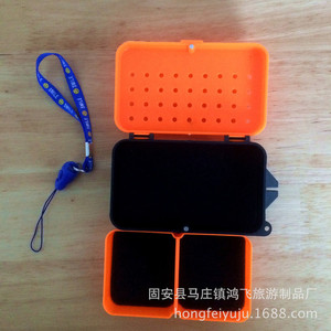Image 3 - Multifunctional 2 Compartments Fishing Box 10*6*3.2cm Plastic Earthworm Worm Bait Lure Fly Carp Fishing Tackle Box Accessories