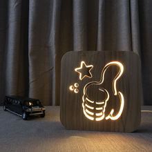 USB Plug Led Night Light Bedside Led Desk Lamp Warm light 220V Home Atmosphere Table Light 3D Effect Sleep Night Light icoco 3d night light magic desk table lamp with glass cover led usb innovative atmosphere lighting with romantic pattern sale