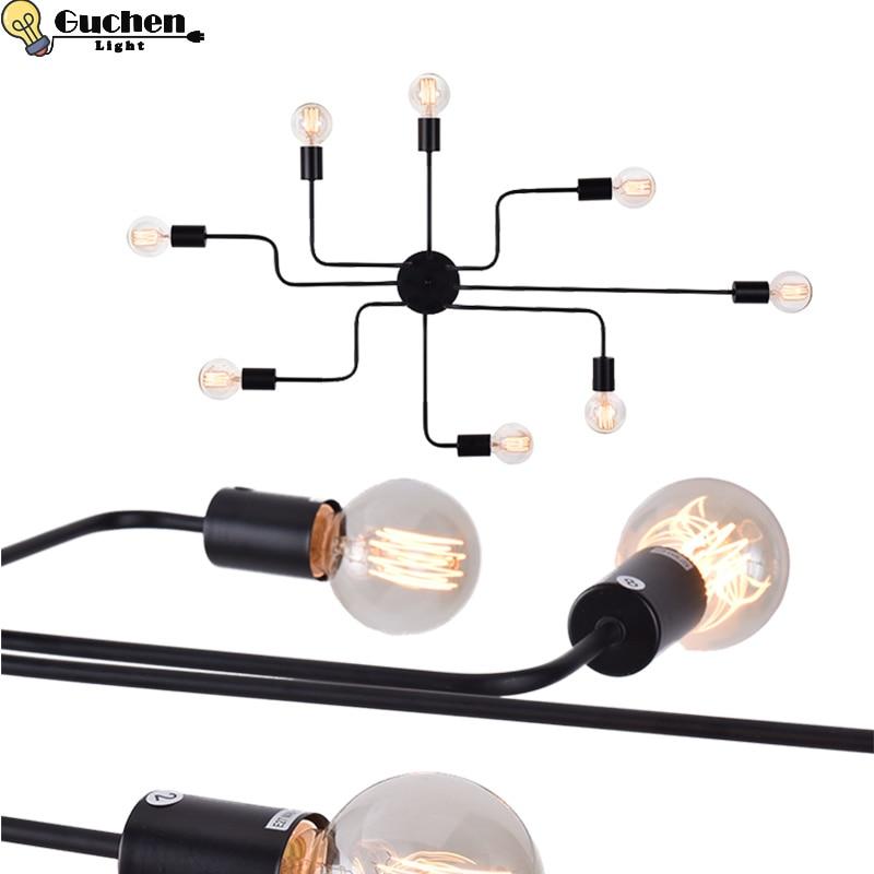 Vintage Ceiling Lights Living Room/foryer adjust DIY hanglamp kitchen/bedroom Iron Luminaria E27 Bulb Home Lighting LED Fixture