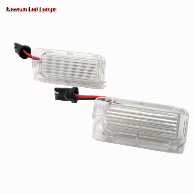 Auto Car Accessories 12V 3528SMD LED Tail Light Number LED License Plate Lamp Light for Fiesta for Fusion for Mondeo MK2 купить