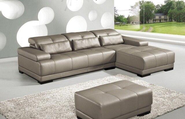 Sofá de cuero genuino de la vaca sofá de la Sala muebles sofá sofás ...