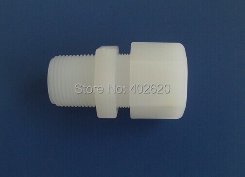 5pcs/lots free shipping PVDF compression Fittings, PVDF material pipe fittings 1/4 thread, 6mm hoses, quick connectors 50pcs lots free shipping ppr plug ppr material 3 4 bsp thread with oring good quality fast delivery