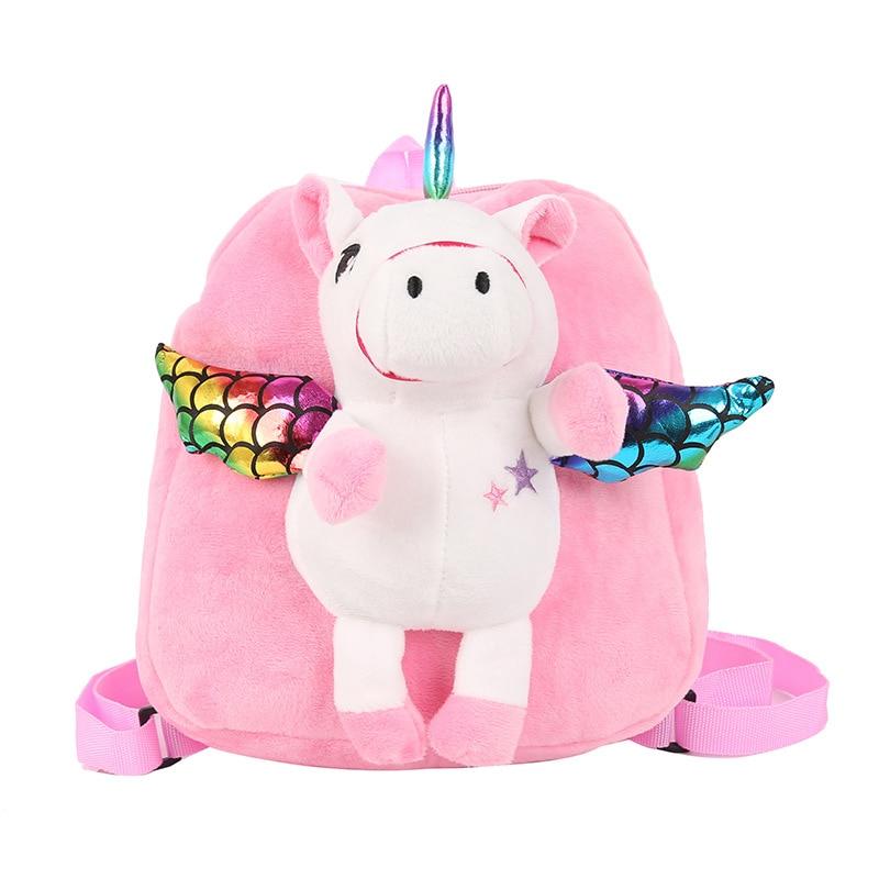 Cartoon Kids Unicorn Backpack Cute Stuffed Toy Backpacks Kindergarten Bag For Girls Children Fashion Book Bag Drop Shipping 2019