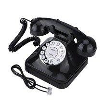 WX-3011 винтажный телефон Черный Многофункциональный пластиковый домашний телефон ретро проводной стационарный телефон
