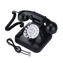 WX-3011-teléfono fijo Retro de color negro, teléfono fijo Vintage, fijo