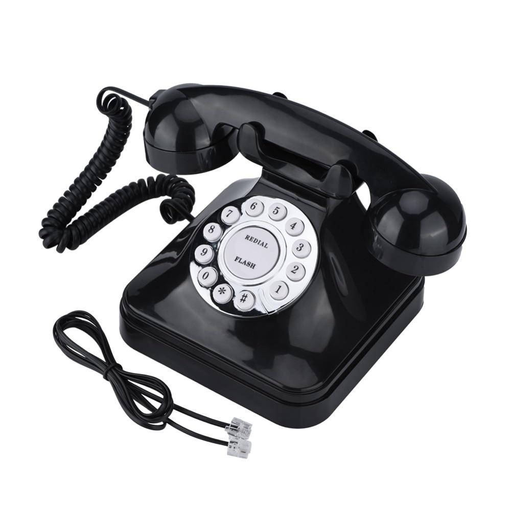 WX-3011 teléfono Vintage negro para casa, teléfono Retro con cable, teléfono fijo, teléfono fijo