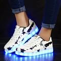 Primavera e no outono de 2017 novas crianças levaram sapatos Meninos e meninas brilho piscando luzes sapatos USB cobrando luzes crianças tênis de corrida