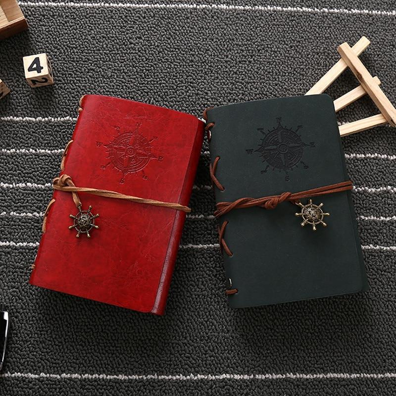 Hot sale läder journalen resenärer anteckningsbok vintage - Block och anteckningsböcker - Foto 5
