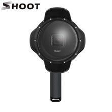 ถ่ายภาพใต้น้ำDome PortสำหรับGoPro HERO 7 6 5 สีดำพร้อมGripกันน้ำกรณีบังแดดเลนส์GO pro 6 5 7 อุปกรณ์เสริม
