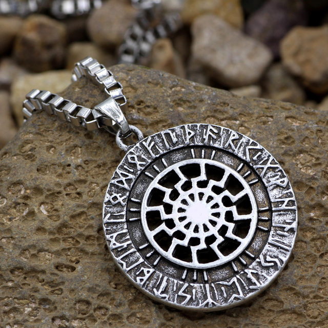 sun wheel black sun kolovrat pagan amulet slavic symbol warrior