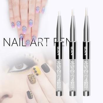 1PC DIY  Manicure Painting Pen Crystal Acrylic Nail Art Dotting Pen Drawing Liner Acrylic UV Gel Decoration Nail Art Pen Nail Art Accessories