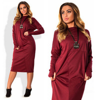 New Fashion Women S Plus Size Dresses 5XL 6XL Autumn Winter Loose Casual Clothing FAT MM
