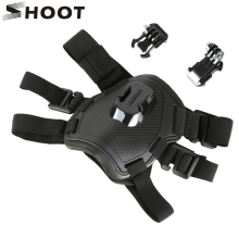 цена на Universal Fetch Dog Harness Chest Shoulder Strap Belt Mount for GoPro Hero 4 3+ 3 4s SJCAM SJ4000 Xiaoyi 2 Go Pro Accessories