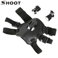 SHOOT Fetch Dog Harness Chest Strap for GoPro Hero 7 5 6 4 Session SJCAM SJ4000 Xiaomi Yi 4K H9 Action Camera Go Pro Accessory