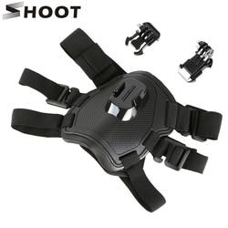 SHOOT Fetch Dog Harness Chest Strap for GoPro Hero 7 5 6 4 Session SJCAM SJ4000 Xiaomi Yi 4K H9 Action Camera Go Pro Accessory