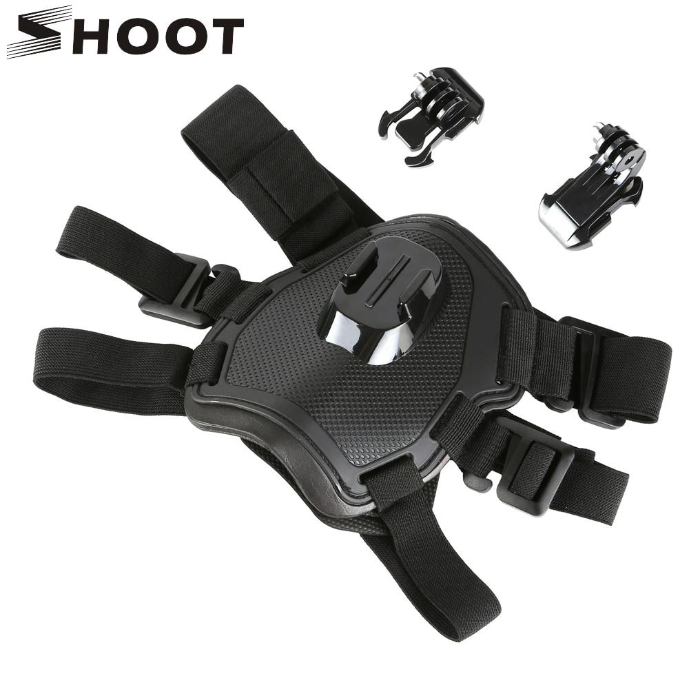 SHOOT Fetch Dog Harness Chest Strap For GoPro Hero 8 7 5 Session SJCAM SJ4000 Xiaomi Yi 4K H9 DJI Action Camera Go Pro Accessory
