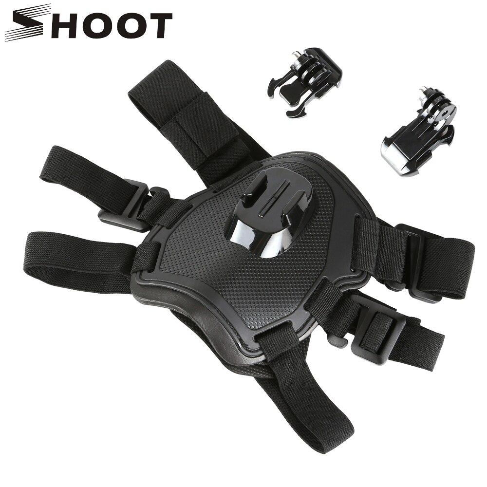 Prix pour SHOOT Fetch Harnais Sangle De Poitrine pour GoPro Hero 5 3 4 Sessio SJCAM SJ4000 Xiaomi Yi 4 K C30 H9 GoPro Accessoires