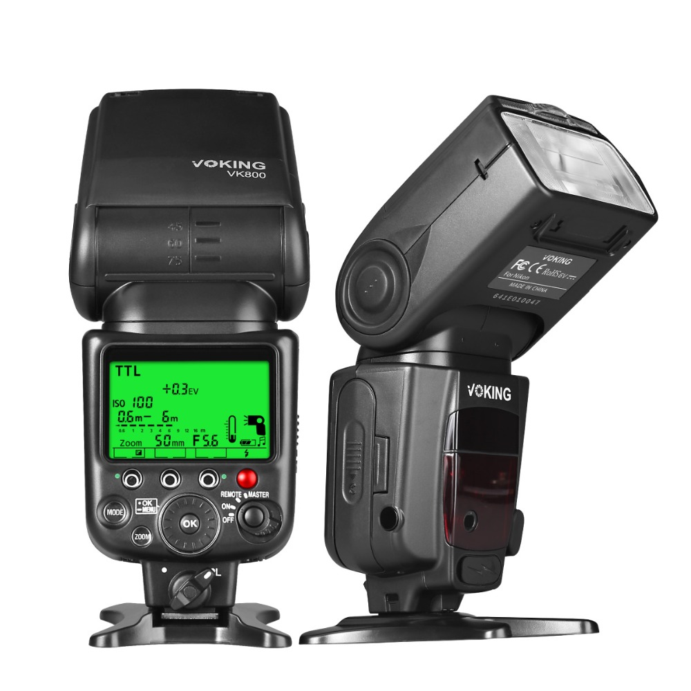 Voking TTL Flash Speedlite VK800 voor Nikon D60 D90 D3000 D3100 D3200 D5000 D5100 D5200 D7000 D7100 Digitale SLR-camera's