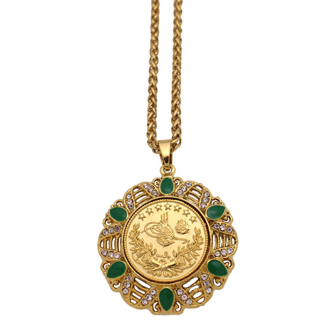 US $6 0 |Aliexpress com : Buy ZKD islam muslim Turkey Coins Ottoman coins  Pendant Necklace from Reliable Pendants suppliers on megan jewelry