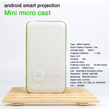 Mini pocket projector dlp wifi portable Handheld smartphone Projector Android AC3 Bluetooth