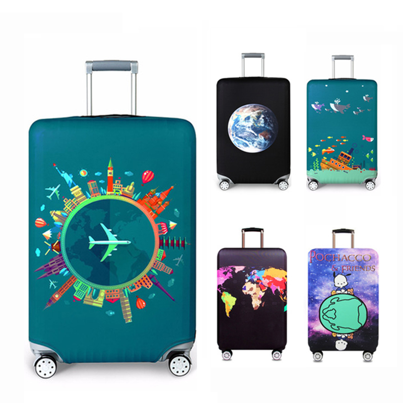 Thicken travel case cover Travel around the world Flexible luggage dust cover Travel accessories Luggage cover цена