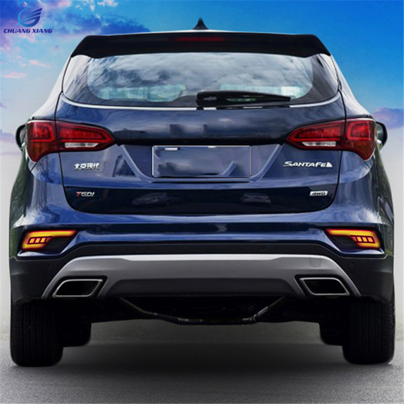 Chuangxiang Multi-function LED Rear Fog Lamp Fog Light For Hyundai All New Santa Fe 2016 2017 2018 Accessories куплю диски оригинальные r18 с датчиками давления для santa fe new