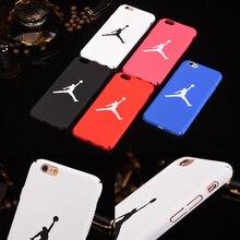 Fashion Sport Hard Plastic Matte Back Cover For iPhone 7 7 Plus case Supreme NBA Brand Jordan Case For iPhone 6 6S 5 5s se Coque