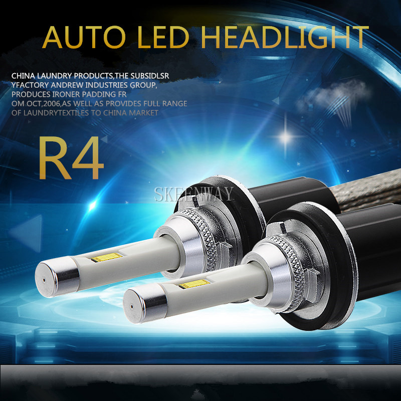 2pcs High Power R4 90w Auto Led Headlamp H11 9012 12v 6000k White Bulbs Hid Replacement H1 H4 H7 Lights Lighting For All Cas