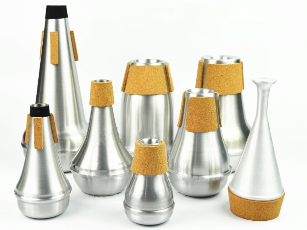 Professional Aluminum Trumpet Mute Silver Plated Musical Instruments Accessories