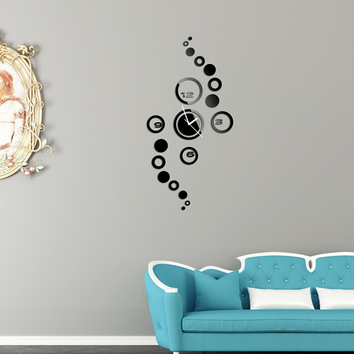 Wall Stickers Designs wall stickers design wall stickers designs Mute Clock Diy Personalized Design Mirror Wall Sticker Frame Wall Stickers Luxury Home Decoration Home Wall