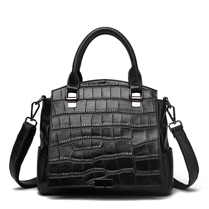 Luxury Handbags Women Bags Designer Crocodile Grain Genuine Leather Bags for Women Tote Bag Bolsa Feminina Messenger Bags Bolsos ly shark crocodile cowhide leather women messenger bags luxury handbags women bags designer crossbody bags women shoulder bag