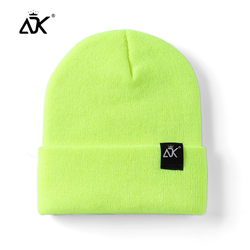 Unisex Hats Knitted ADK Tags Cap Woman Beaines For Winter Breathable Men Gorras Simple Hats Warm Solid Casual Lady Beanies 5